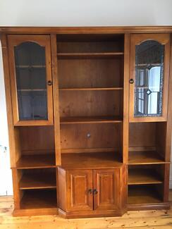 Wall units with lead light doors.   Other Furniture   Gumtree ...