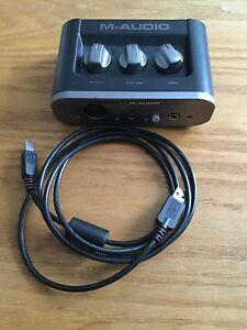 M Audio Fast Track Audio Interface. (Reduced)