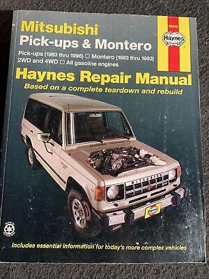Haynes Repair Manual Book Mitsubishi Pick-up Truck Montero D50