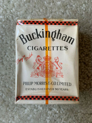 VINTAGE / COLLECTABLE 1934 BUCKINGHAM CIGARETTE PACKET FREE SHIPPING