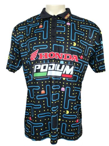 Mens PODIUM Pac Man Honda Sports Racing Team S/S Collectible Shirt Size L