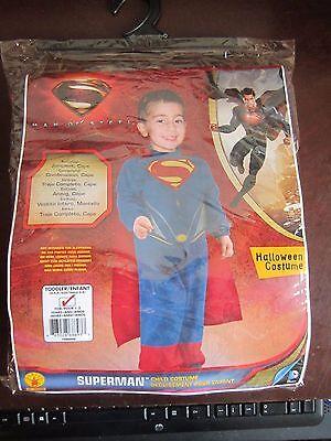 Superman Man Of Steel Superhero Halloween Costume Toddler 1-2 Yrs - Man Of Steel Toddler Costume