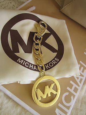 MK Michael Kors LARGE Gold Tone  Purse Charm Keyfob NWOT