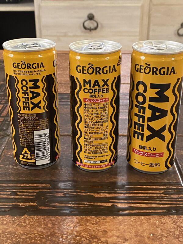 Georgia Max Coffee x3