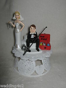 Wedding Reception Party No Fishing Cake Topper Ball Chain Sassy Bride Funny