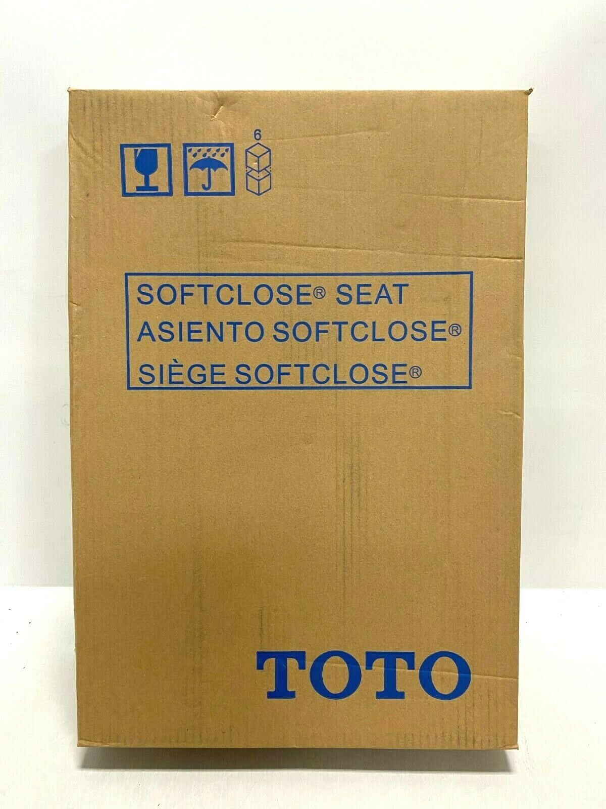 Toto SS204 SoftClose Elongated Closed-Front Toilet Seat and