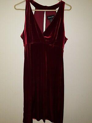 Sexy Classy Valentines Day Holiday RED velvet DRESS - Valentines Day Dress