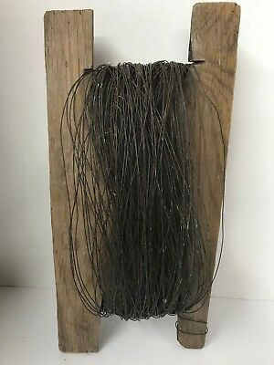 Vintage Electric Fence Wire Wood Roller Beautiful Farm Barn Livestock Antique