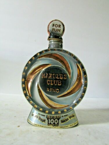 Jim Beam Harolds Club Casino Reno NV Pinwheel Decanter