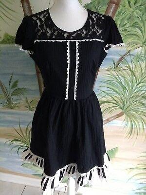 Hot Topic Dress Swing Pinup Piano Rockabilly Full Skirt Lolita Sz XL Black    - Piano Dress