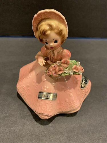 Josef Originals May 1963 Doll of the month - girl with basket of flowers  Japan