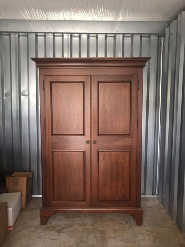 VTG Thomasville Walnut Fisherville Wardrobe - Cedar Lined