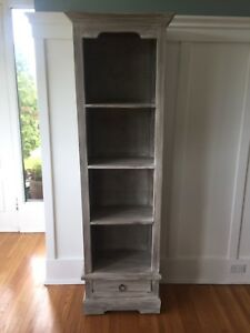 Distressed shelving unit