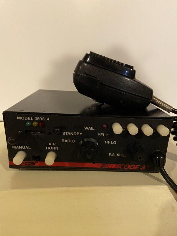 Code 3 Vcon 3600 Series Model 3692L4