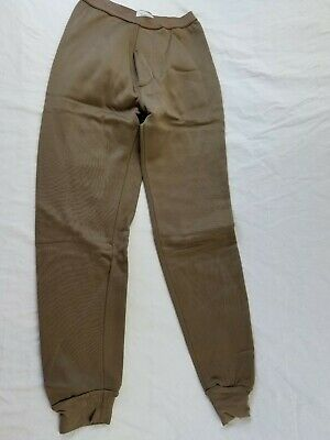 """Cold Weather Drawers US Military Brown Polypropylene Pants SMALL NEW up to 31"""""""