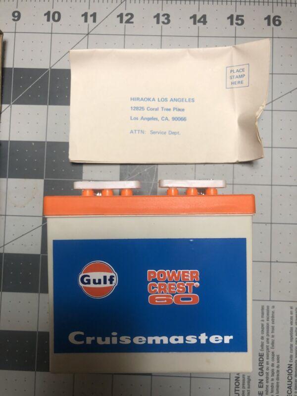 Advertising Gas Station Gulf Cruisemaster Battery Radio Power Crest 60 In NIB