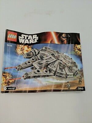 LEGO Star Wars Millennium Falcon (75105) building instructions manual only, used