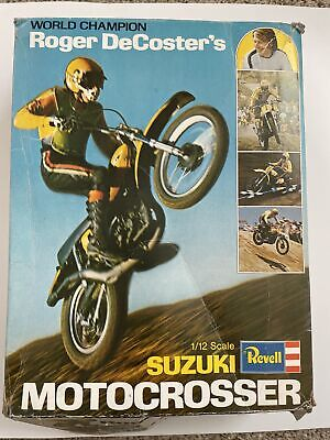 Revell Roger Decoster Suzuki and Baja Husky 1:12 scale Parts Kits