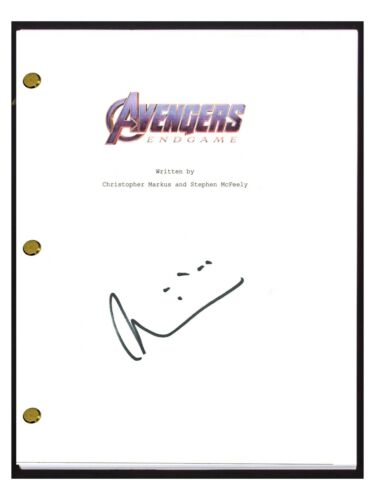 Taika Waititi Signed Autographed AVENGERS ENDGAME Movie Script Screenplay COA