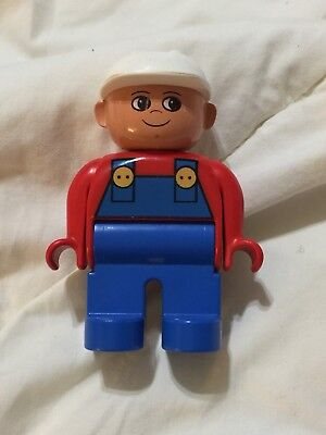 Lego Duplo People Minifig Figures Construction Men Worker for sale  Cumming