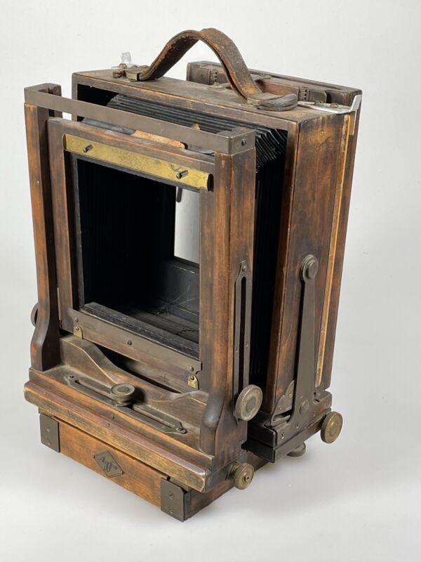 Rare Agfa View Camera Wooden Large Format Camera With 4x5 Back