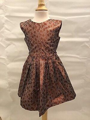 Caramel Baby Rust Flower Dress 6 - Caramel Baby