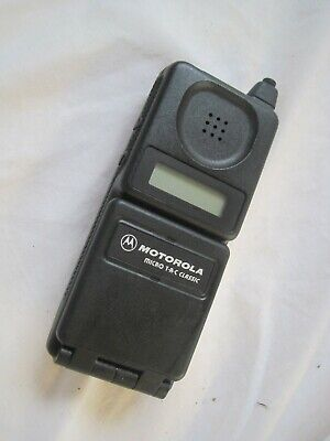 Rare UNTESTED Vintage MOBILE PHONE Black MOTOROLA Microtac Micro T-A-C Flip