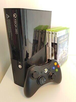 Xbox 360 E - 500GB Console + Controller + Games + HDMI Cable Bundle - Fast Post