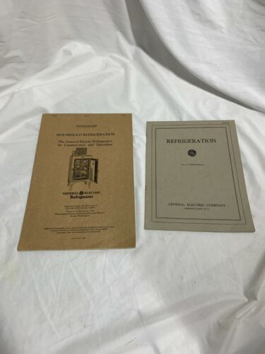 Vintage General Electric Refrigerator Manual 1928 & GE Info book Schenectady NY