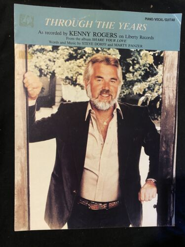 Kenny Rogers Through The Years Vintage Sheet Music Country Rare - $6.99