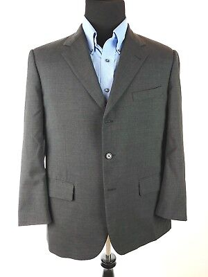 Brooks Brothers Brooks Ease 40 R Gray Wool 3 Button Sport Coat Blazer 40R