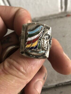 1940s Jewelry Styles and History 1940's/1950's Mexican Biker Ring $190.00 AT vintagedancer.com
