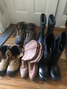 Assorted boots and shoes! Like new.