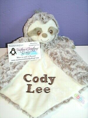 Sloth Luvster Personalized Security Blanket Baby Blankie](Personalized Baby Stuff)