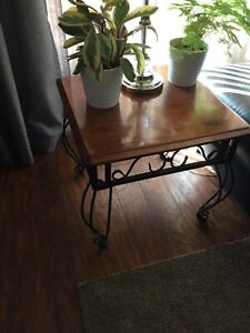 End tables and coffee table, matching set