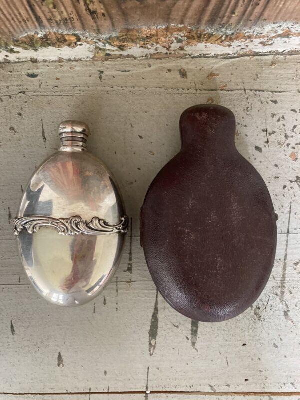Antique Sterling Silver Vintage Hip Flask