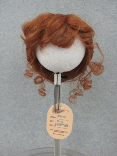 Global Doll Wig size 13-14 GENEVA Carrot Red w tag box & hairnet