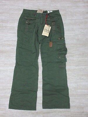 NEW Da-Nang Women's Cargo green cotton Pants SWAMP TWW505 Size: SMALL