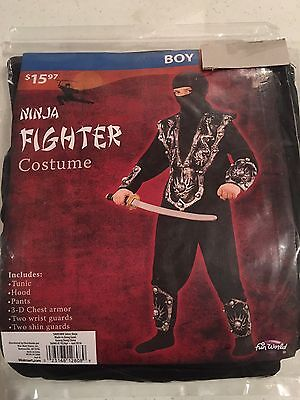 Halloween Costume Boy's Ninja Fighter  Silver Small, Medium or Large (Ninja Costume For Boy)