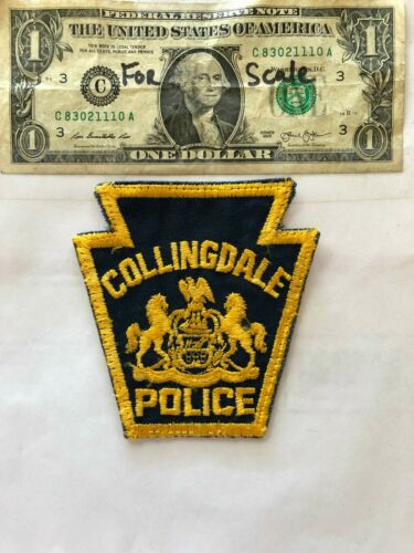Collingdale Pennsylvania Police Patch pre-sewn in good shape