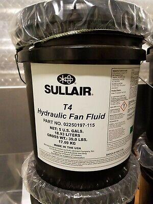 Genuine Sullair Oem T4 Hydraulic Fan Fluid - 02250197-115 - 5 Gallons