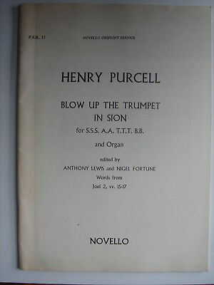 Henry Purcell - Blow Up the Trumpet in Zion, Novello score #01 ()