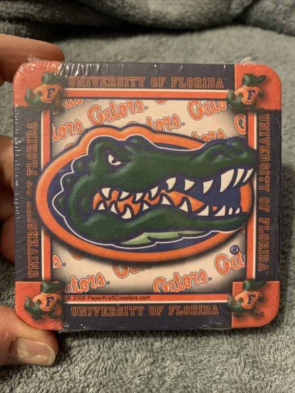 Florida Gators Authentic Paper Kraft Absorbent Cardboard Drink Coasters 10 Pack