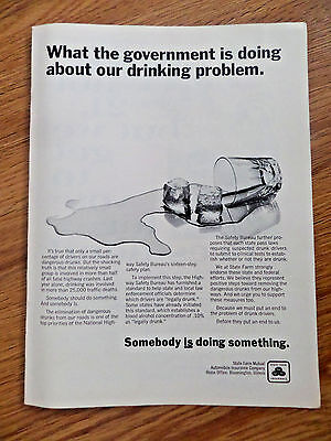 1969 State Farm Insurance Ad What Government Is Doing About Our Drinking Problem
