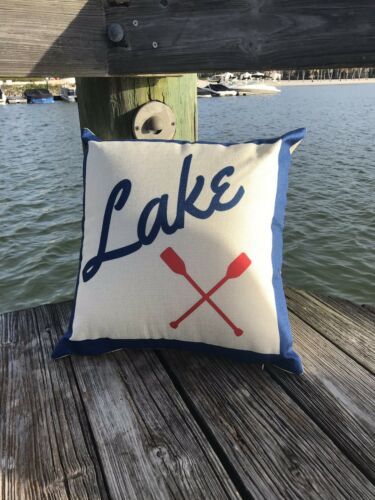 Lake House 18X18 Throw Pillow Cover Lake Cottage Decoration