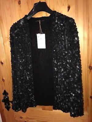 New+Tags, ZARA Genuine leather Jacket, Medium (small fit), Black, RPP 219€ for sale  Ireland