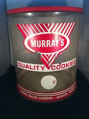 1950's Murray's Cookies Cookie Container-Murray Biscuit Co.Augusta Georgia
