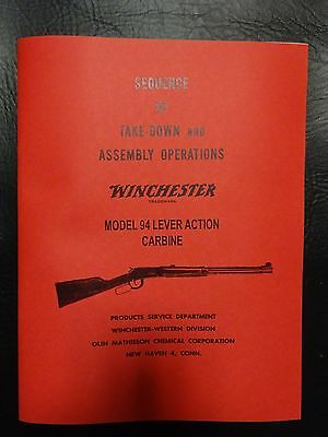 Winchester model 94 manual approved by Winchester 35 yrs ago