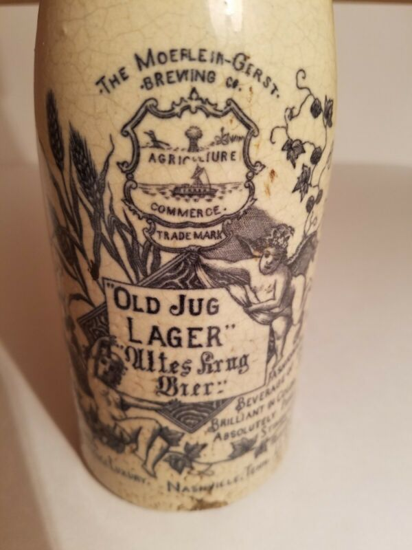 "RARE!!!  Moerlein -Gerst Brewing Co. ""Agriculture Trademark "" Pint jug"