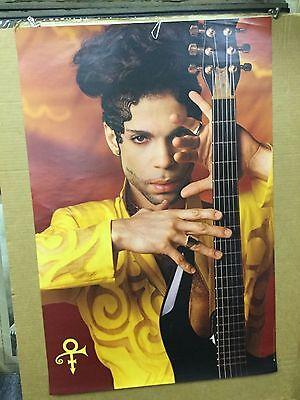 Prince.  ...holding guitar. 1993 original promo poster